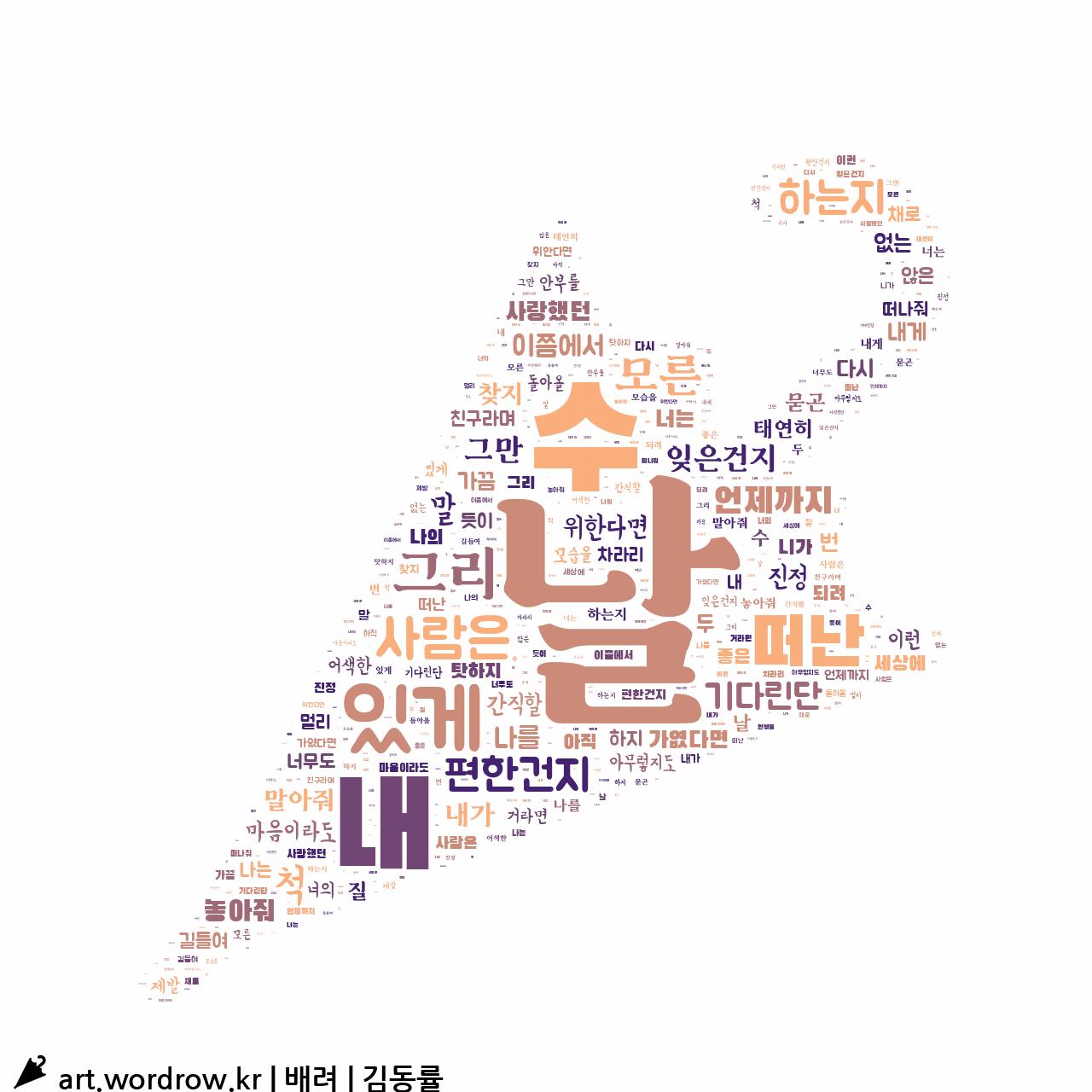 워드 클라우드: 배려 [김동률]-73